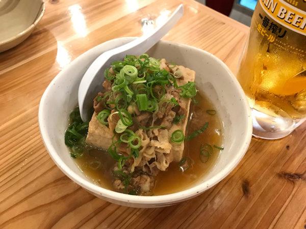おくまん ビール 肉豆腐