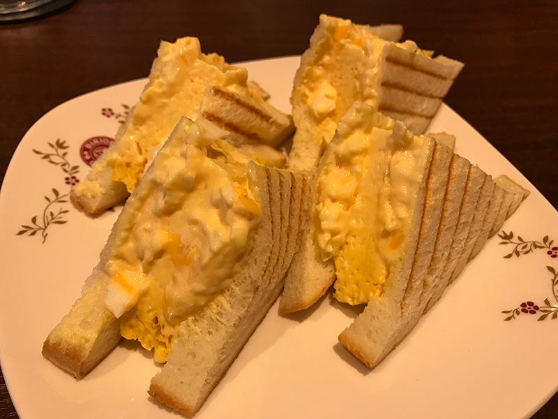 ビリオン珈琲 和歌山川辺店 厚焼き玉子サンド