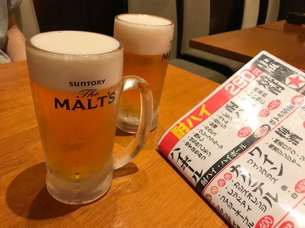 大衆酒蔵 ひょっとこおかめ 生ビール