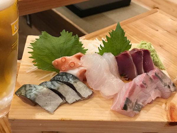 おくまん 宝塚 鮮魚 お造り盛合わせ