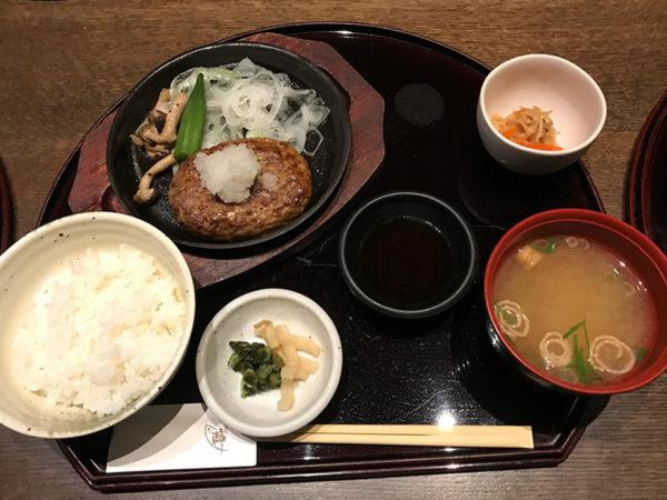 旬和席 うおまん 三ノ宮ミント神戸店 和風おろしハンバーグ定食