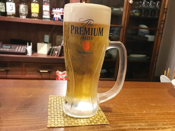 宝塚 小林 立ち飲み さんさん堂 生ビール