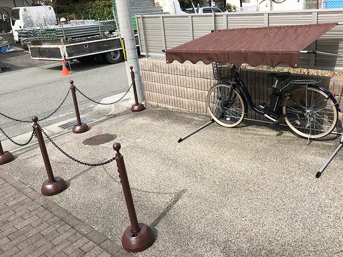 駐輪場 チェーンスタンド サイクルガレージ 電動アシスト自転車