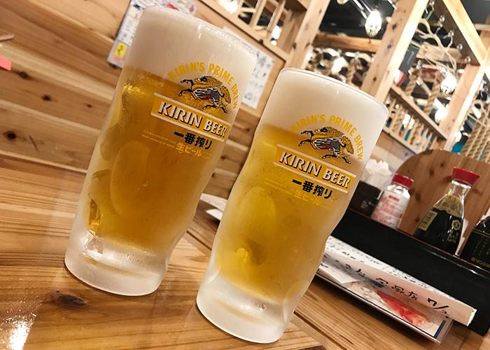 海鮮屋台 おくまん 宝塚店 生ビール
