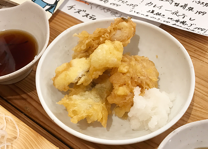 海鮮屋台 おくまん 宝塚店 天ぷら タコ天 ハモ天