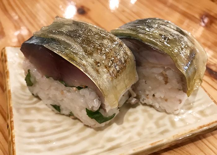 海鮮屋台 おくまん 宝塚店 炙りサバ棒寿司