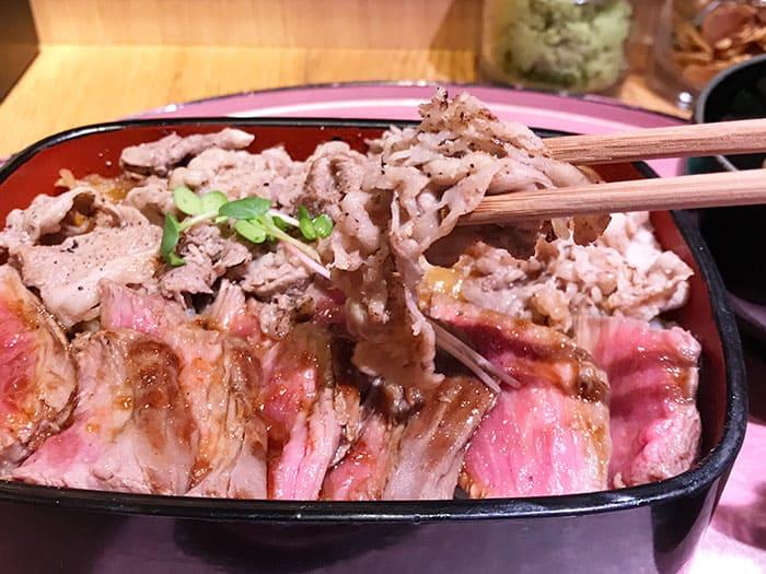 大阪 梅田 ビフテキ重 肉飯 ロマン亭 錦重 肉飯